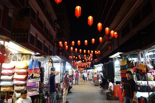 マレーシアのチャイナタウンの夜