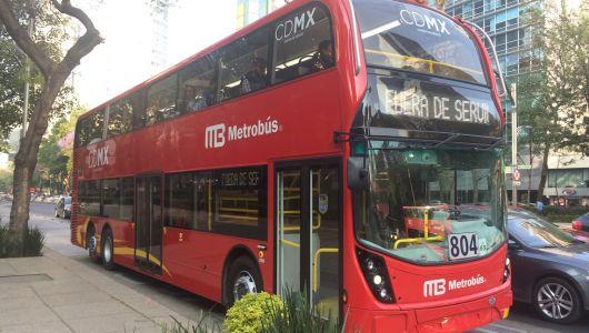 メキシコにも二階建てバス!